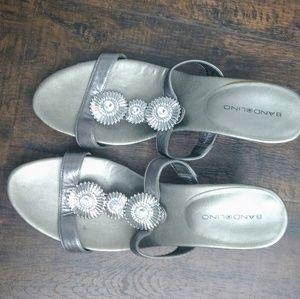 Bandolino silver sandals